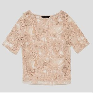 Zara Embroidered top with sequins